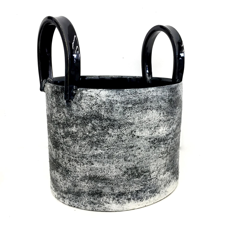 B/W Texture Handles Bucket 10 x 8.5 x 12