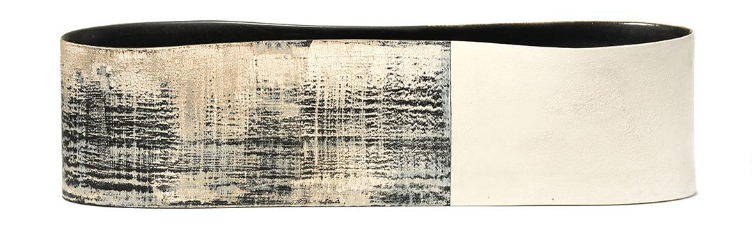 "Indigo & Ivory Long Vessel, 7.5"" x 28' x 5.5"""
