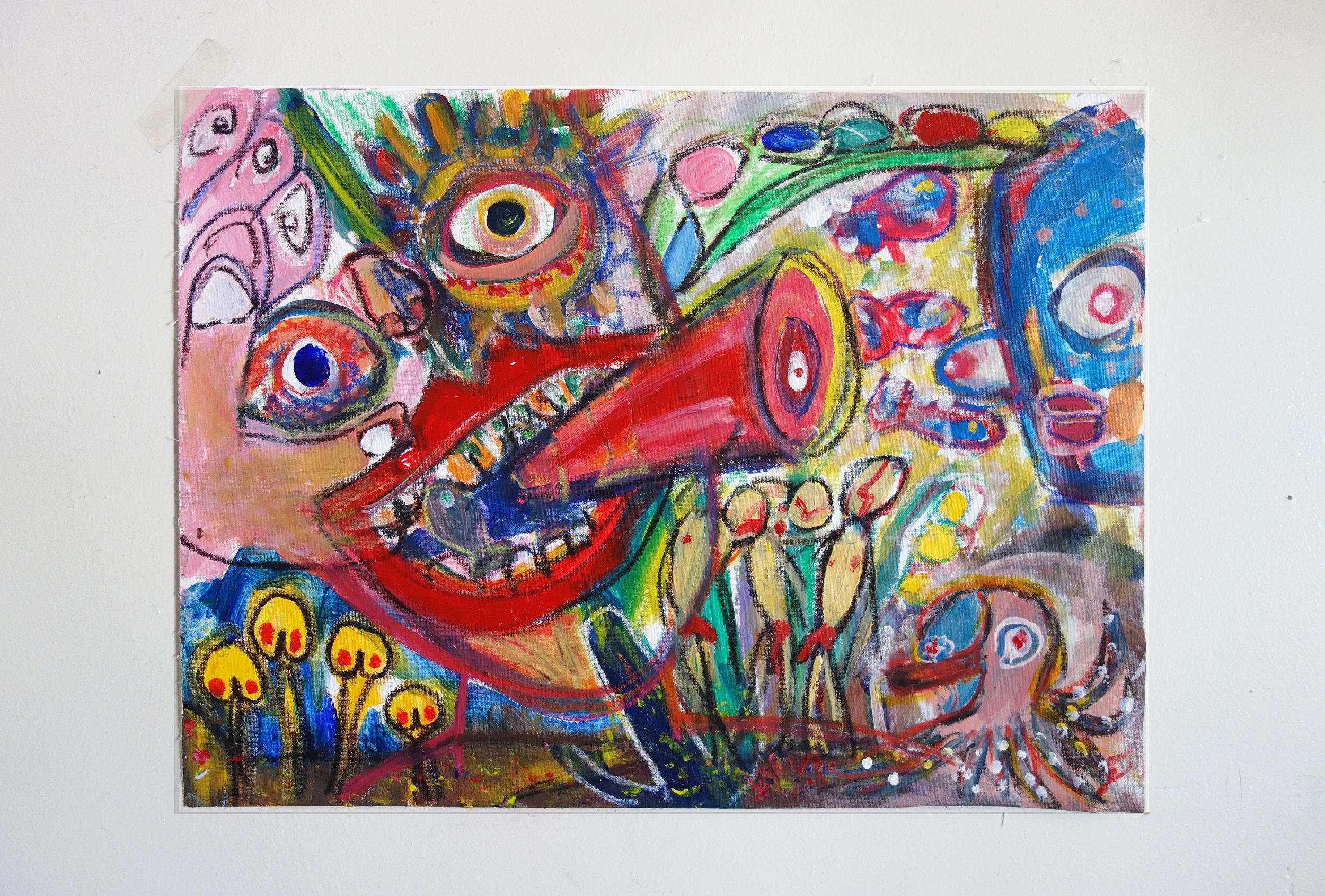 """ OPEN SESAME ""    24 × 18 in  2014"