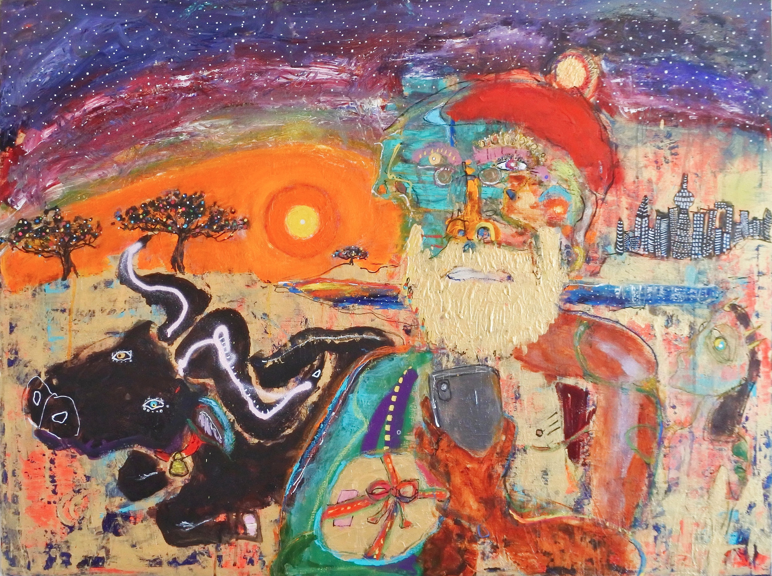 """ Midsummer Christmas ""    40 × 30 in  2019"