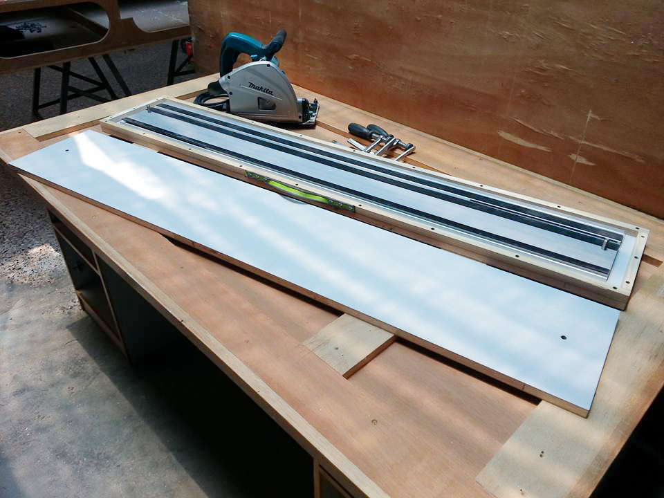 Track saw guide rail case