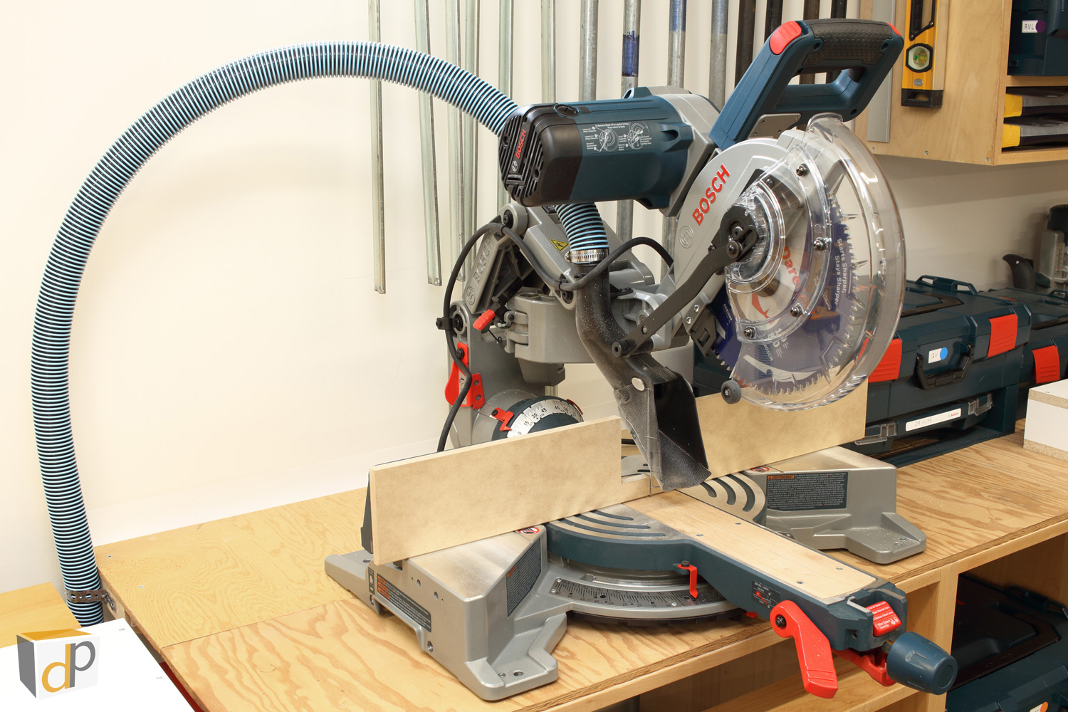 Axial Glide Dust Collection Upgrades - Dust Boot & Hose