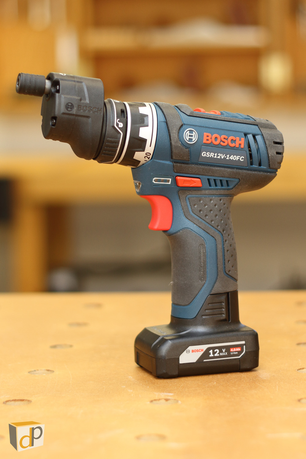 Flexiclick with the Bosch 12V 4.0 Ah Battery