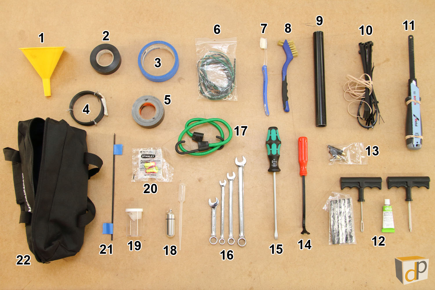 Photo #5 - Contents of Black Mastercraft Case (Item #1 in Photo #4)