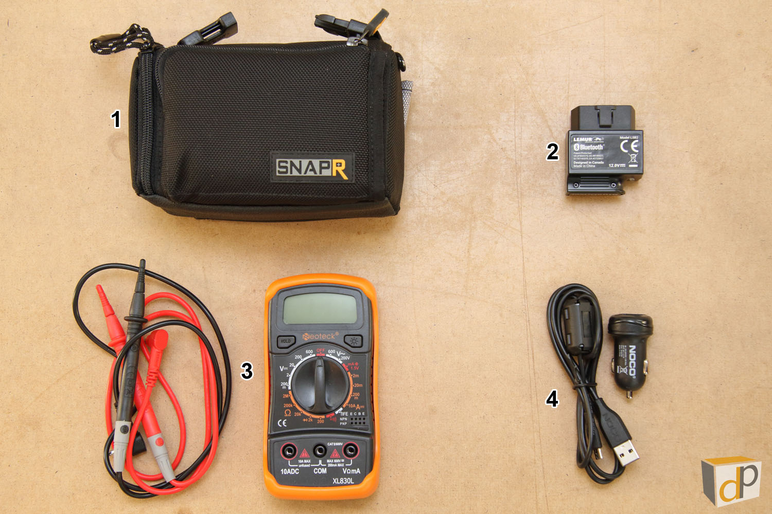Photo #6 - Contents of Black SnapR Case (Item #6 in Photo #4)