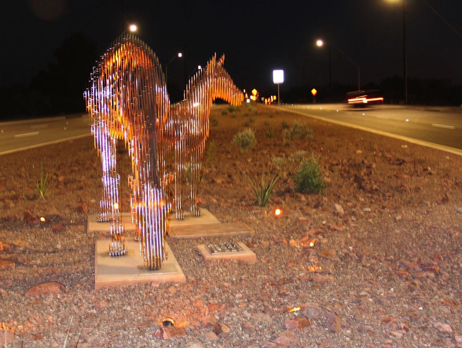 Horses on Houghton at night.jpg