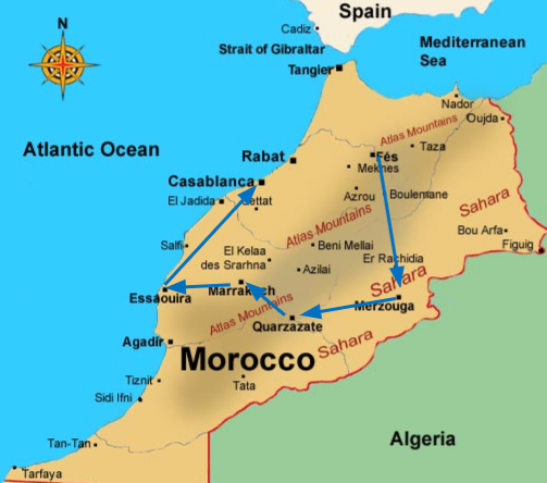 morocco trip - guided tour of morocco - map of morocco - passion travel services.png