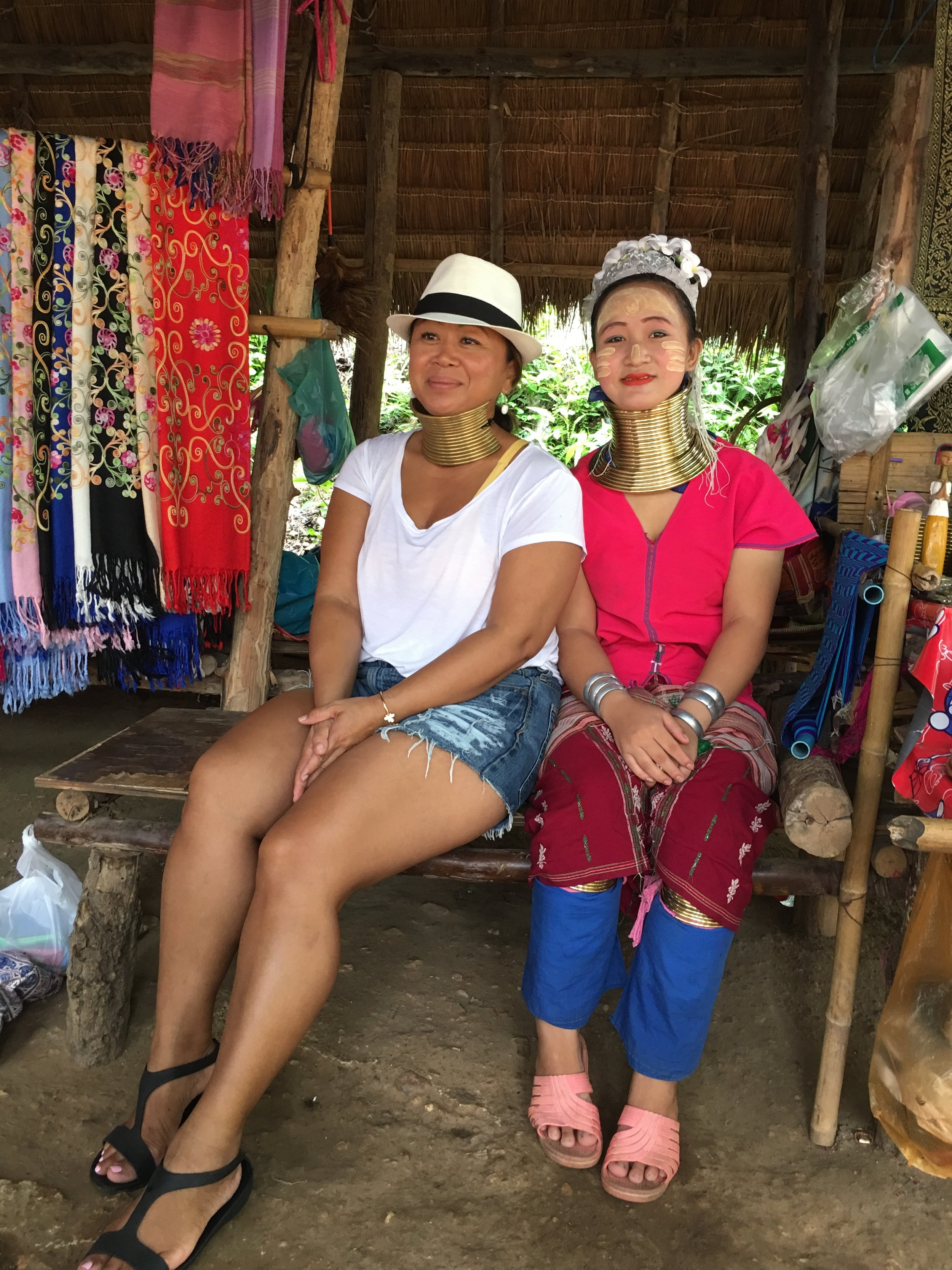 Phim Gilberry of Passion Travel Services with Karen Hill Tribe member in Chiang, Mai Thailand