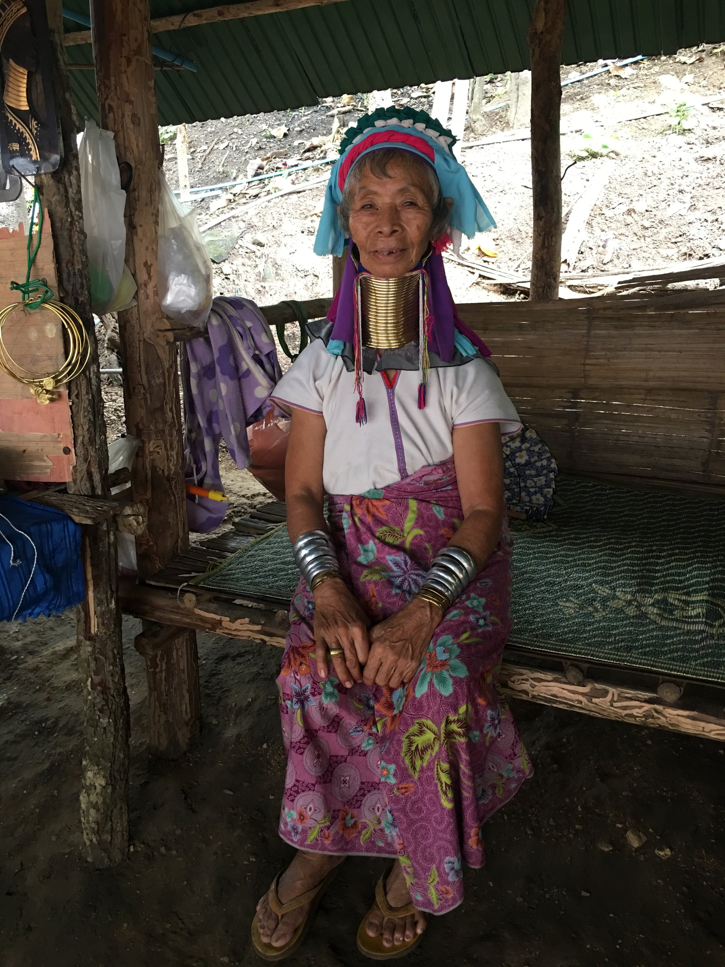 traditional karen hill tribe elder - long neck tribe thailand - passion travel services.JPG