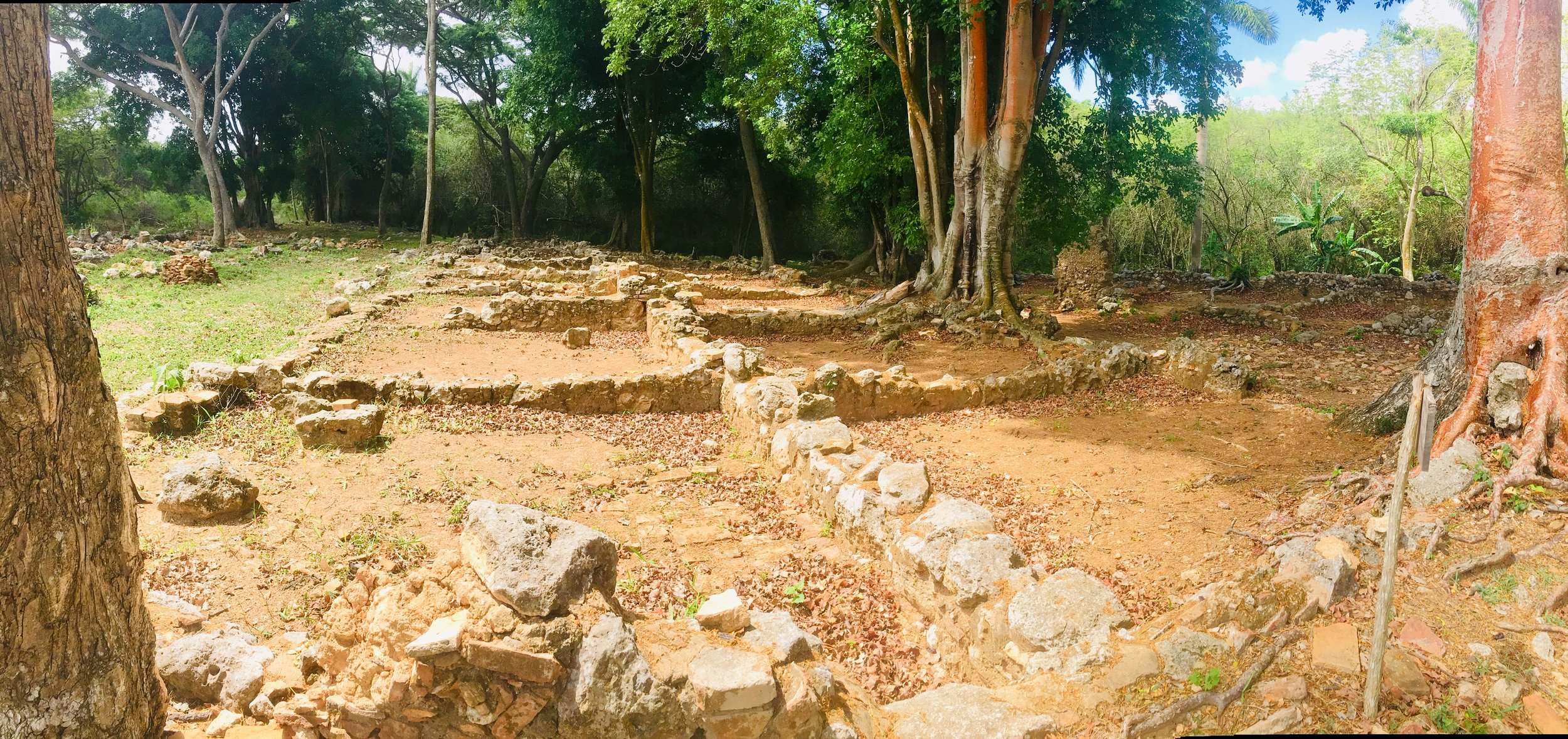 This is what's left of the slave quarter in San Isidro.