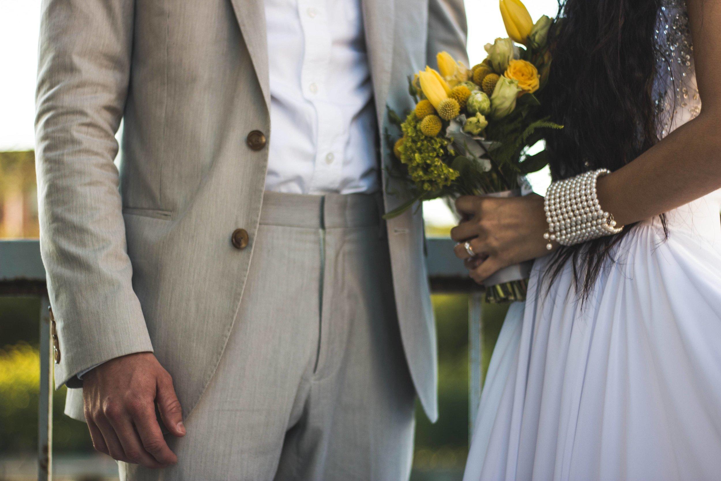 Wedding Attire for Bride and Groom