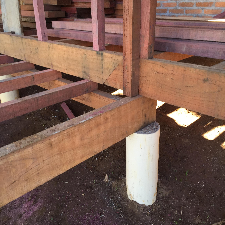 Apoio da estrutura do piso