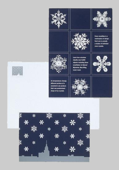 Museum of Science invitation for an exhibition on snowflakes