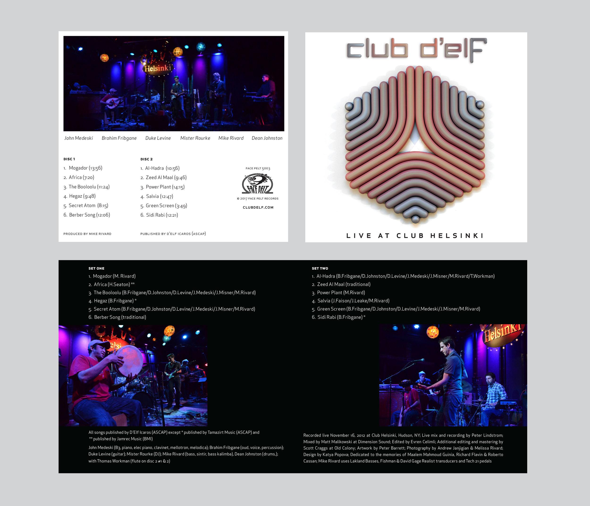 Album design for  Club D'Elf
