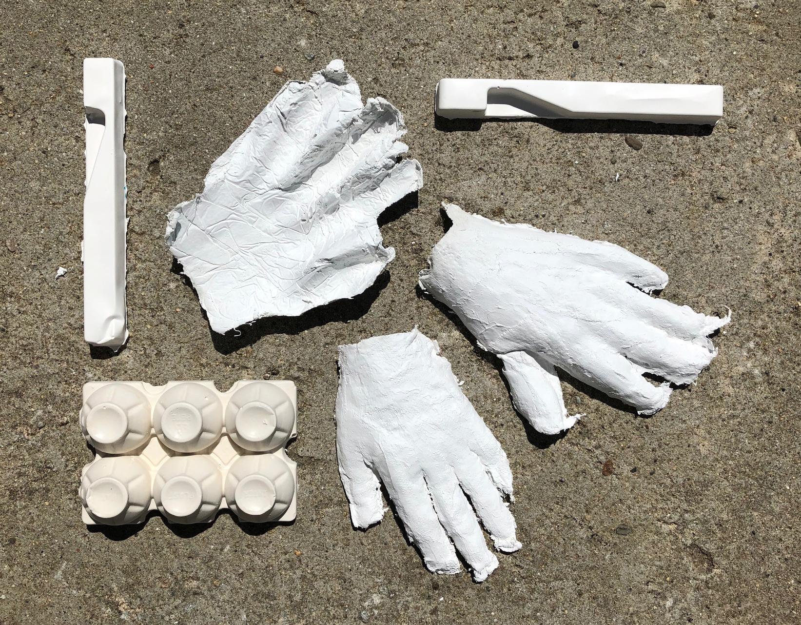 "Cogitania, ""Art and Chemistry"". Plaster gauze and Plaster Paris molds."