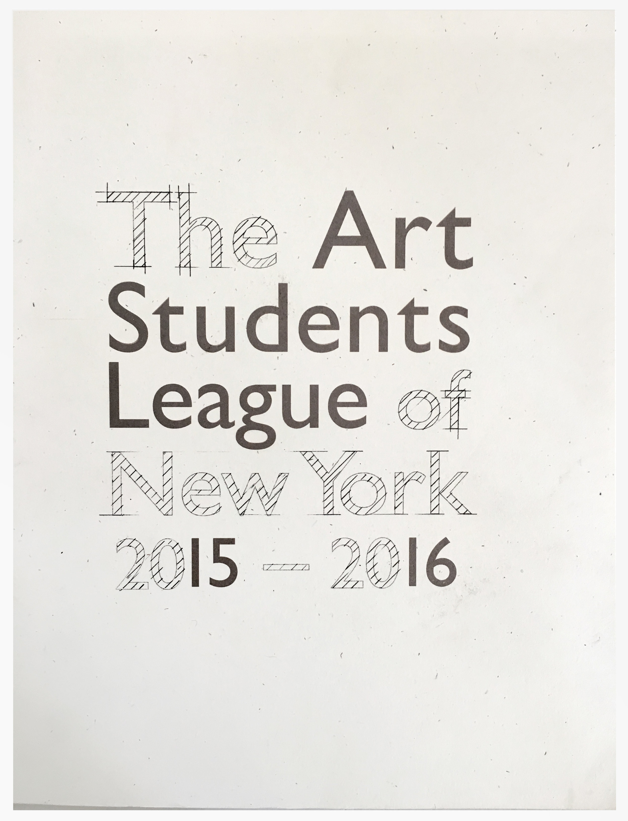 (Inside) Cover image for The Art Students League of New York 2015-2016