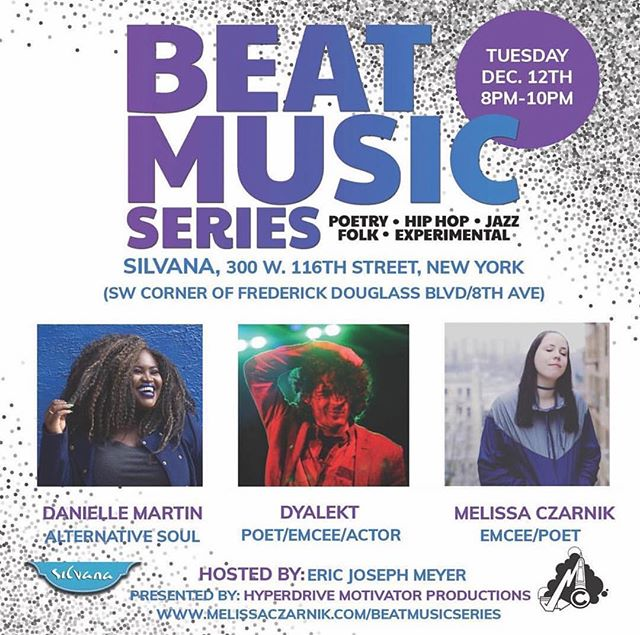 So excited to be performing @silvanaharlem for the @beatmusicseries. It's going to be a great show with some amazing performers. Hope to see you guys there✨✨