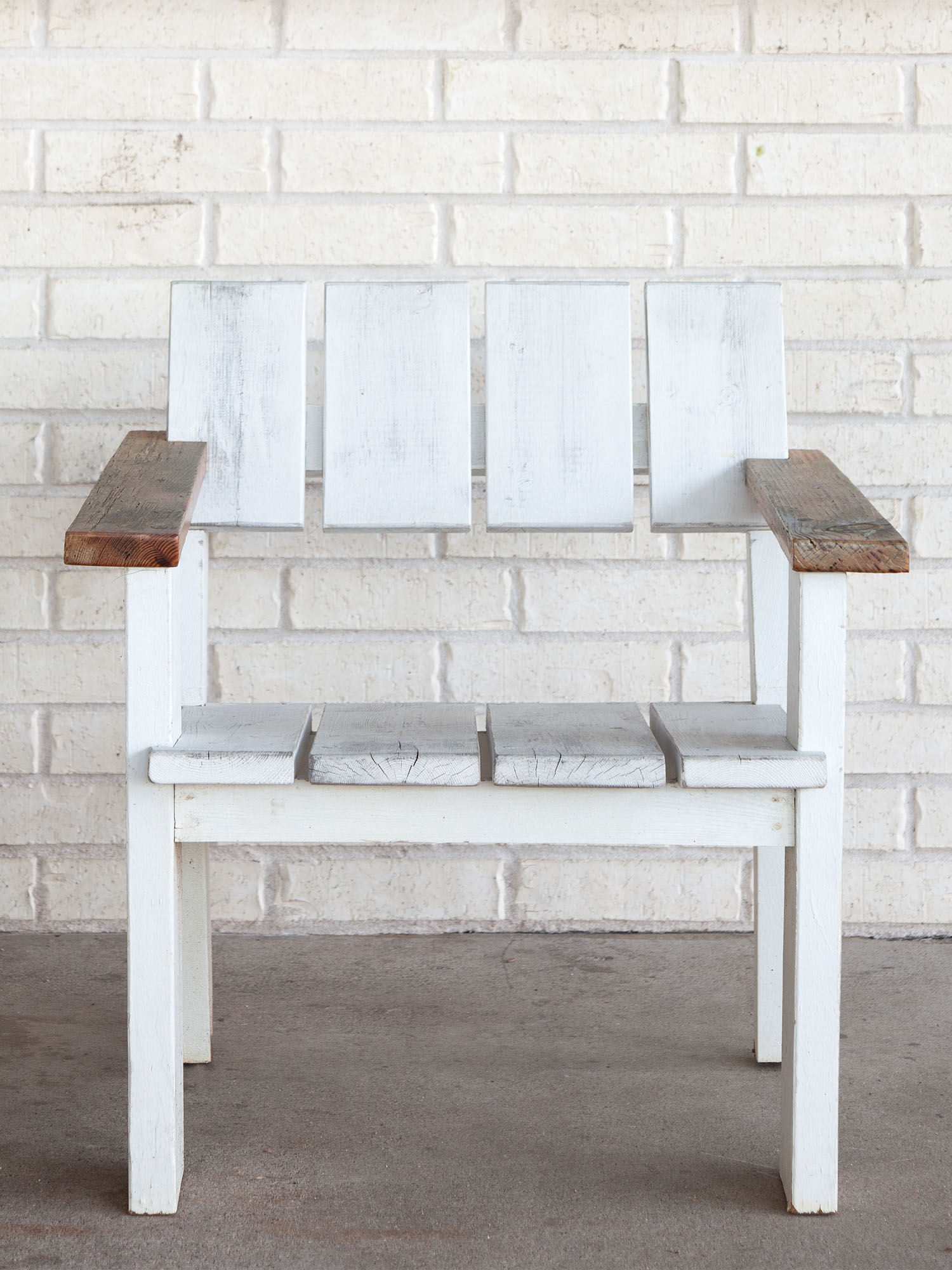 McCray & Co. - St. Philip - Custom Patio Arm Chair, Front View