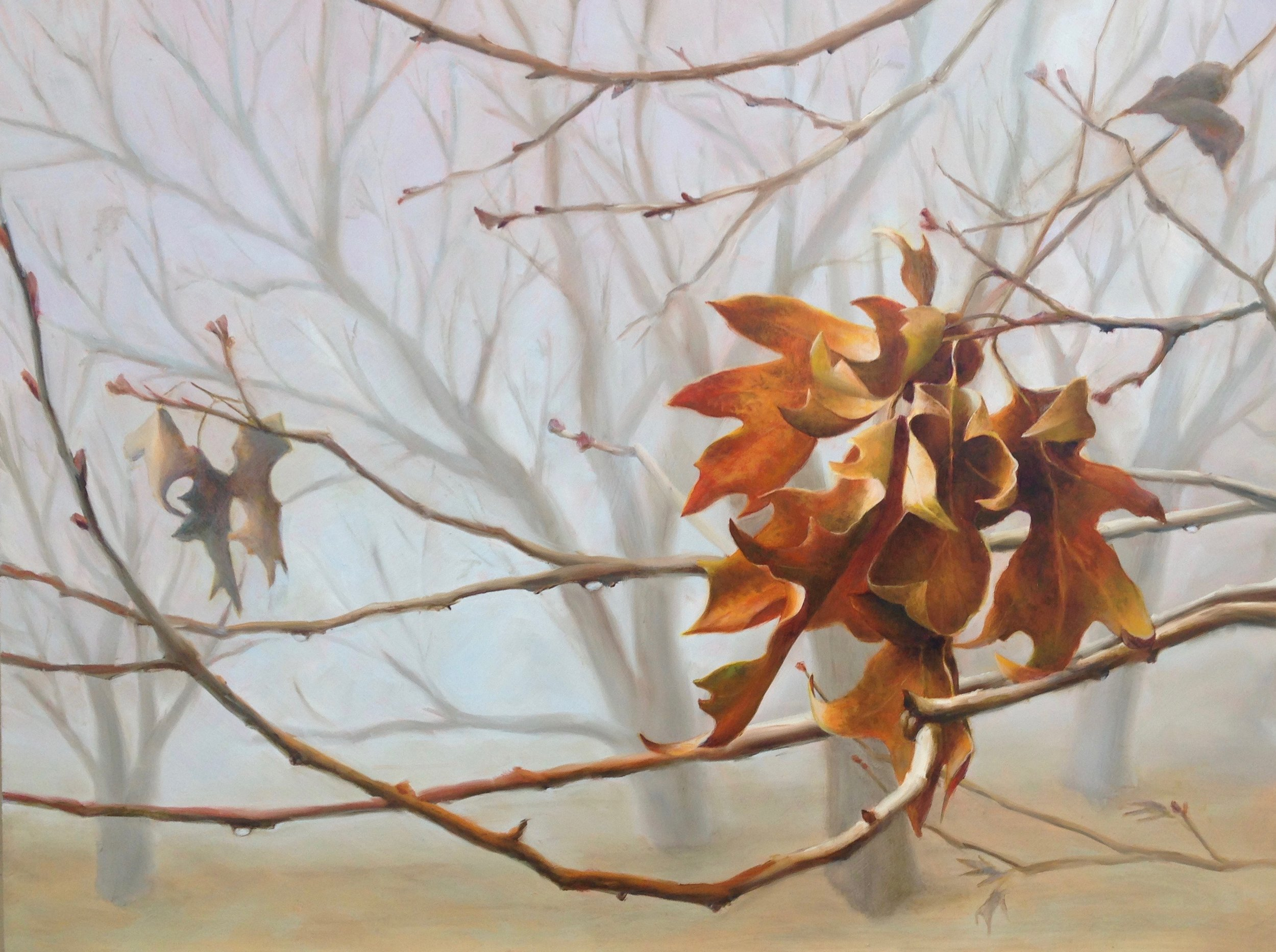 Last Leaves  - 18x24 - Oil on panel