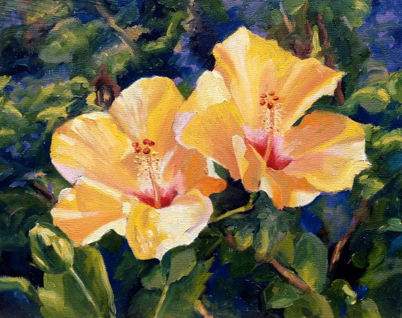 Hibiscus Glow  - 8x10 - Oil on panel