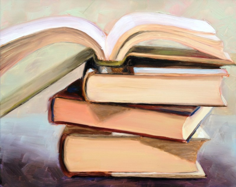 In The Stacks  - 8x10 - Oil on panel - SOLD
