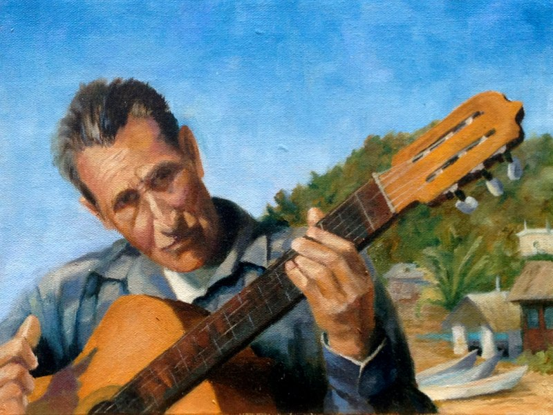 Mexican Musician  - 9x12 - Oil on canvas - SOLD