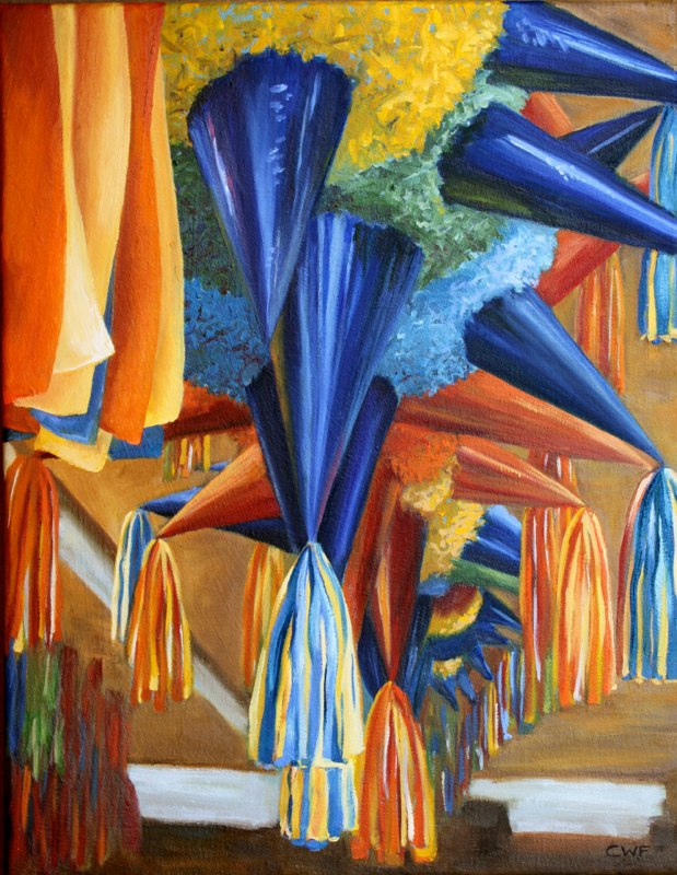 Piñata Factory  - 12x16 - Oil on canvas - SOLD