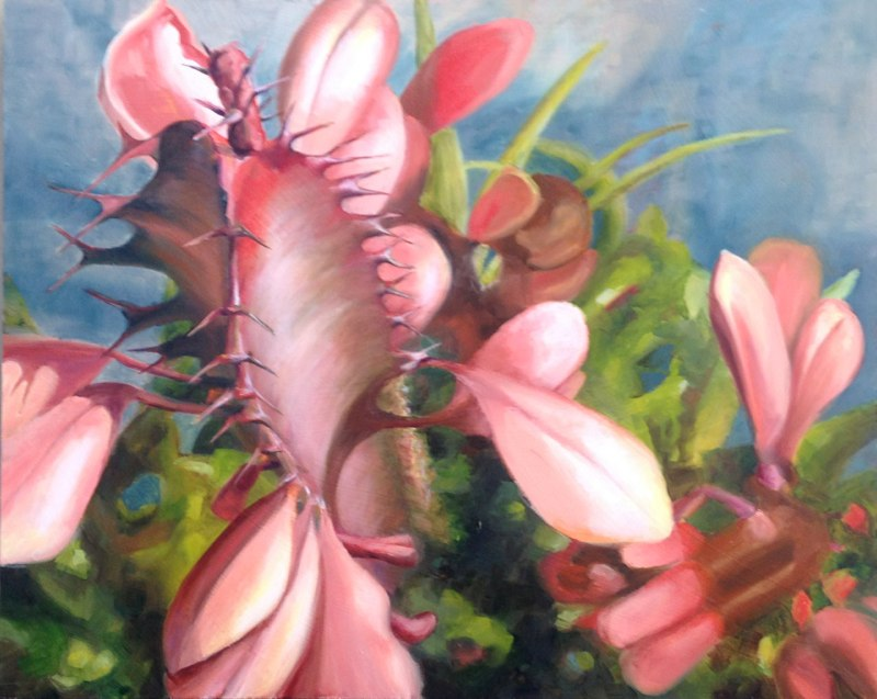 Pink  - 16x20 - Oil on panel - SOLD