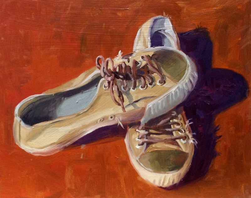 Will's Shoes  - 8x10 - Oil on panel - SOLD