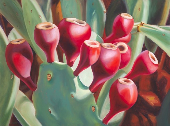 Cactus Royalty  - 18x20 Oil on Panel - $1,250.00