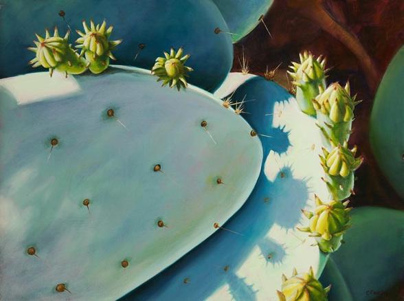 Cactus Shadows III  - 12x16 - Oil on Panel - SOLD