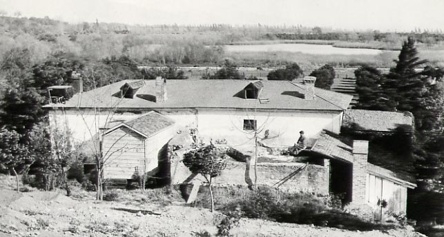 View of the Old Mill looking east with Lake Vineyard in the distance.