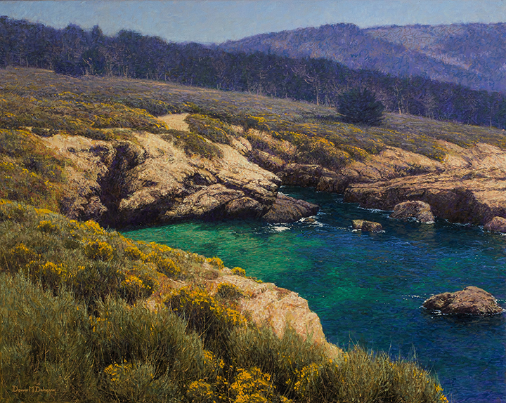 "Dennis Doheny,  South Shore - Point Lobos,  Oil on Linen, 24""x 30"""