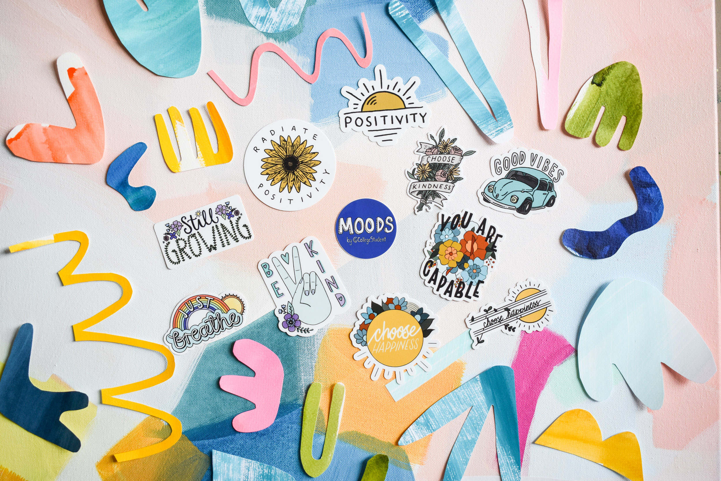 Taylor Lee Paints Brand Ambassador Big Moods College Student Stickers