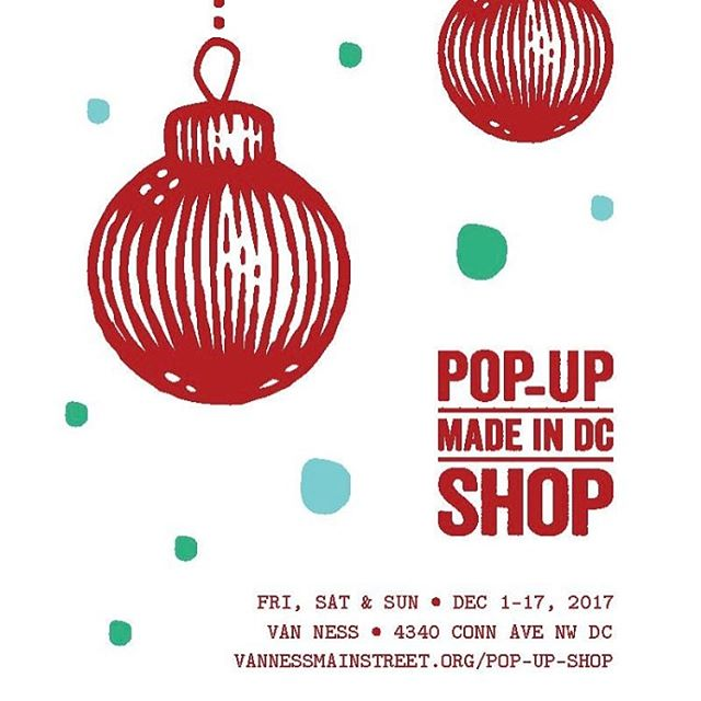 #smallbizsat is our preview of #popupvn with @vannessmainst. For 3 weekends, we have coordinated an indoor/outdoor marketplace of #madeindc makers in a vacant @udc_causes property! Join us 12-5 to get a kickstart on your holiday shopping!