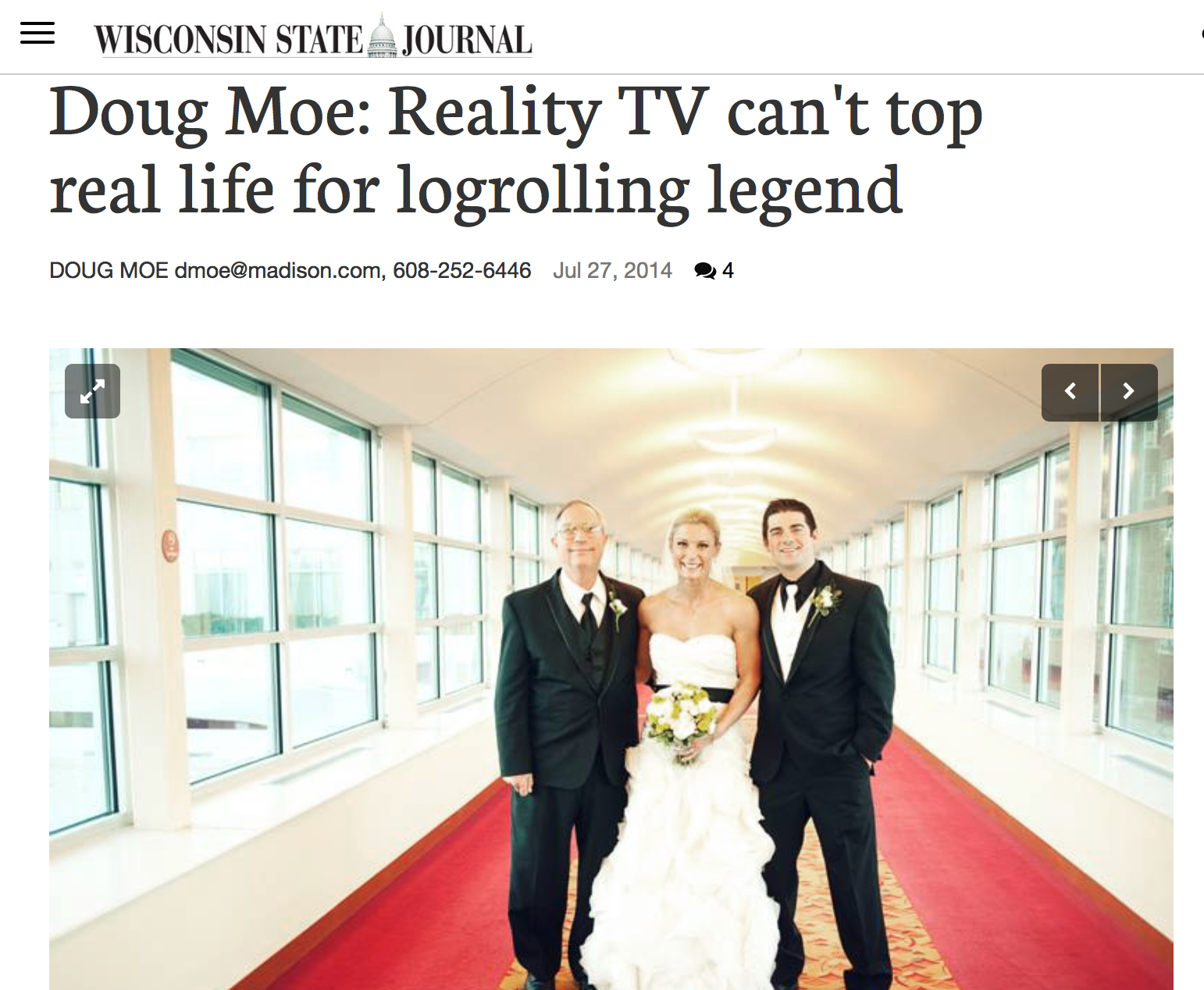 Reality TV Can't Top Real Life for Log Rolling Legend: Wisconsin State Journal 2014