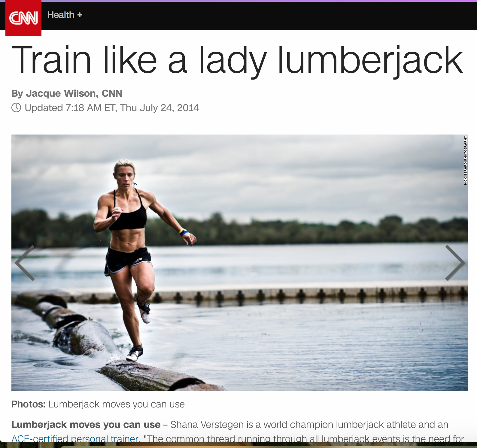 Train Like a Lady Lumberjack: CNN 2014