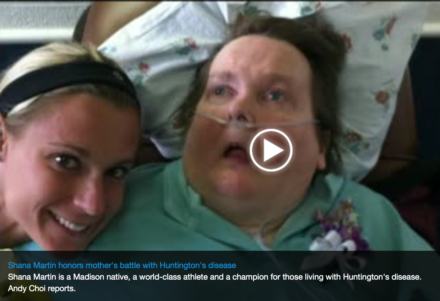 Shana Martin Honor's Mother's Huntington's Disease Battle: Channel 3 News March 2013