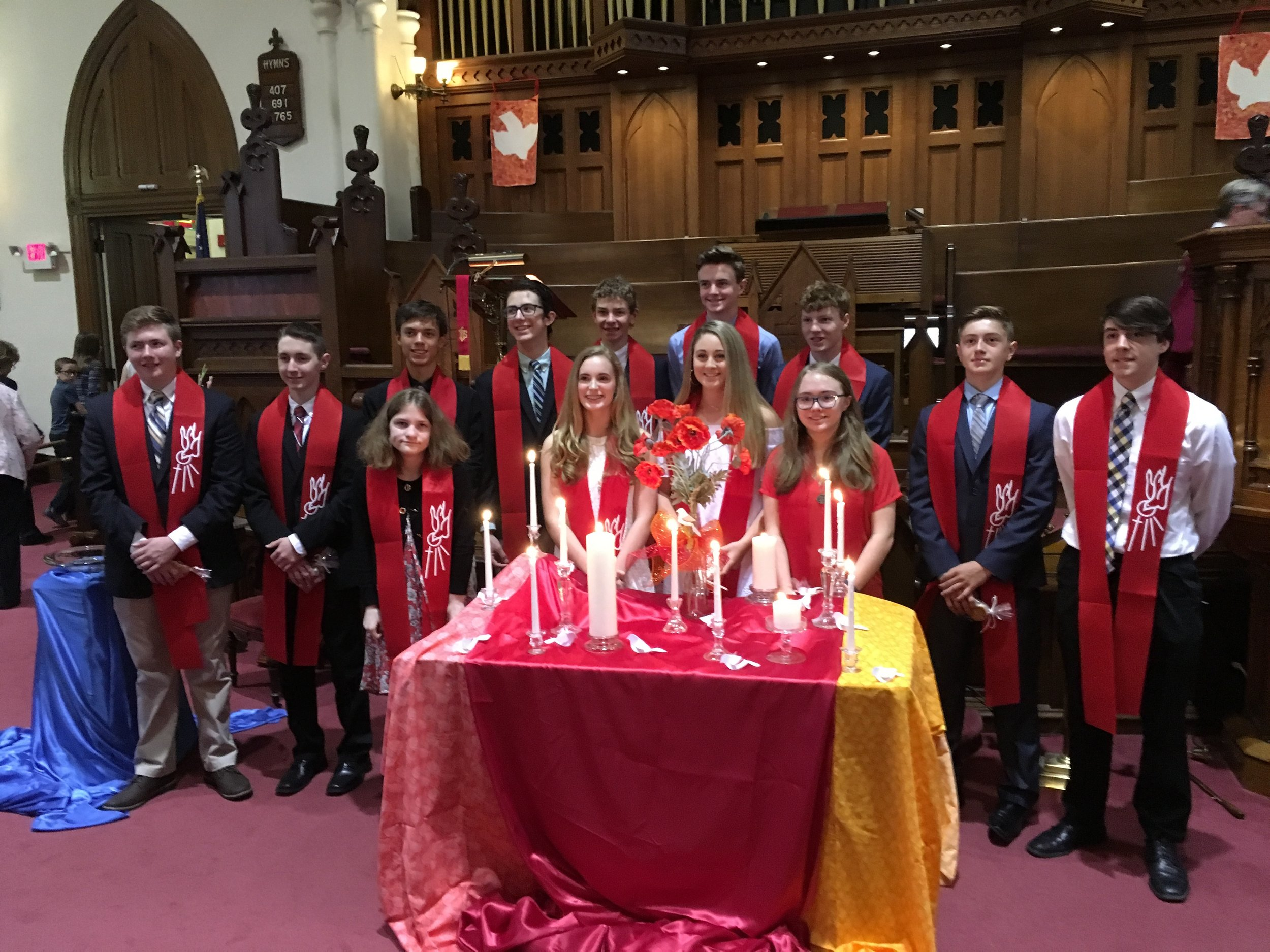 Our Confirmation Class 2018