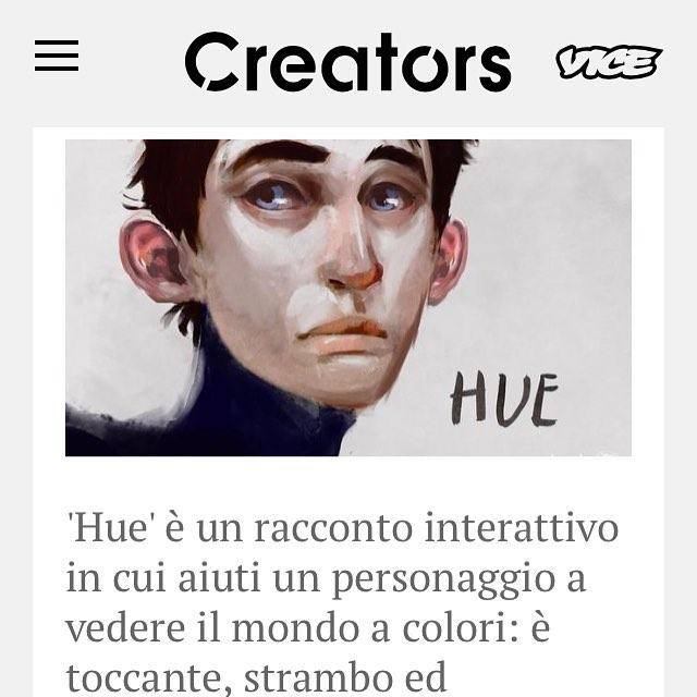 hue is featured in vice italia. so excited to share hue's story at @digitaldesigndays