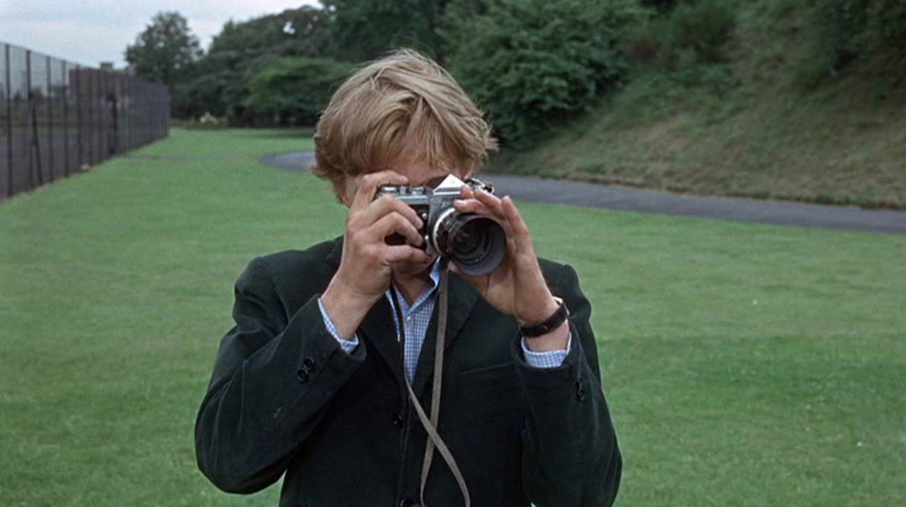 David Hemmings as Thomas in Michaelangelo Antonioni's  Blow-up  (1966).