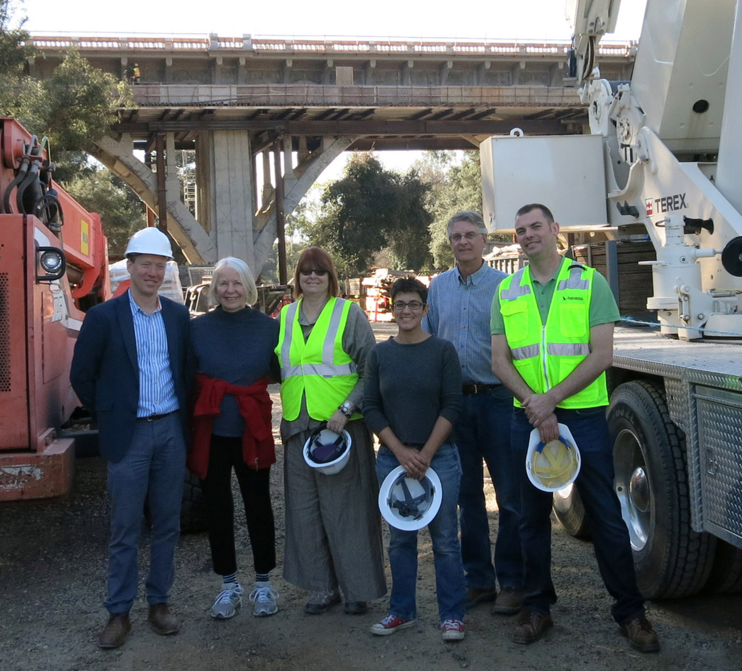 Members of DAG and the Pasadena Construction mgmt team