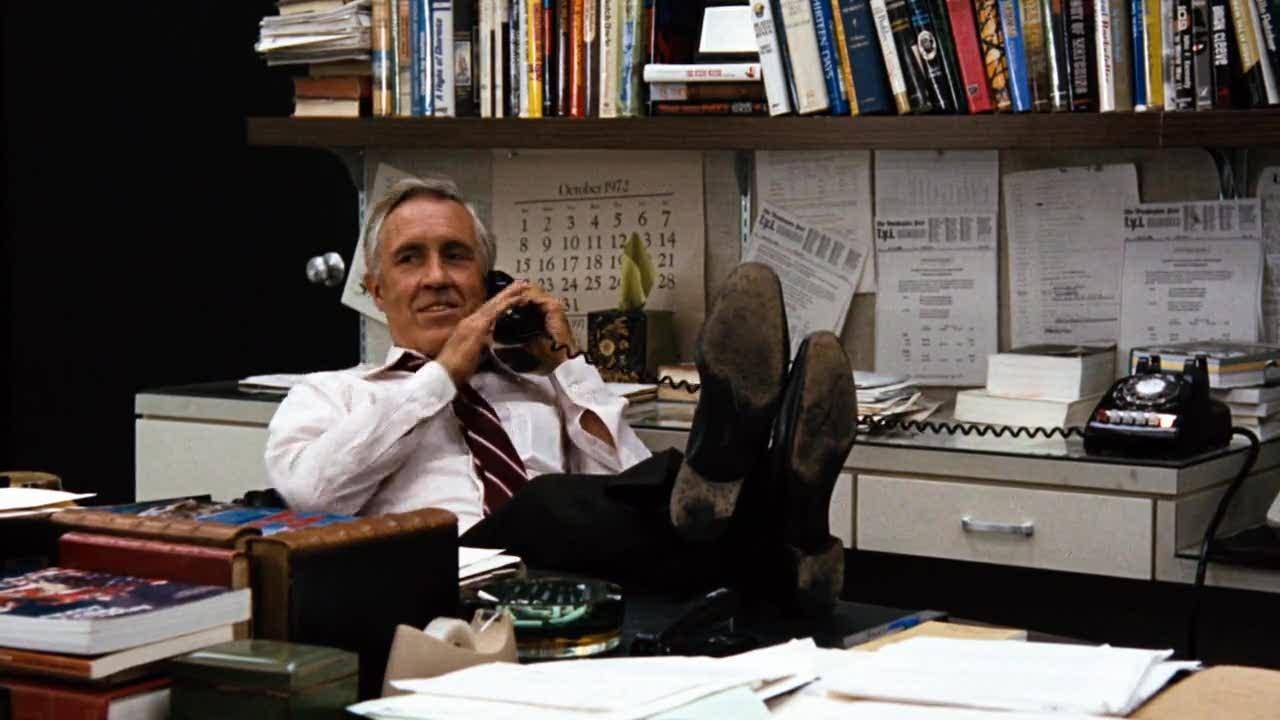 Jason Robards as Ben Bradlee in Alan J. Pakula's All The President's Men