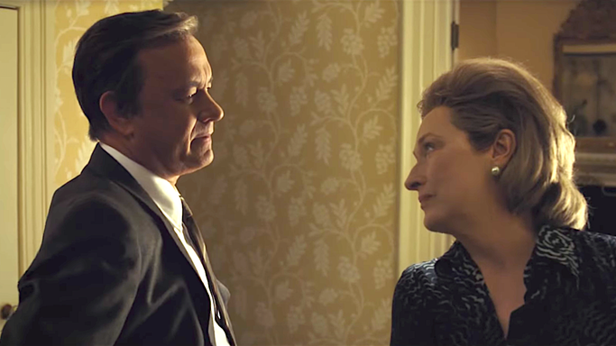 Tom Hanks and Meryl Streep in Steven Spielberg's The Post