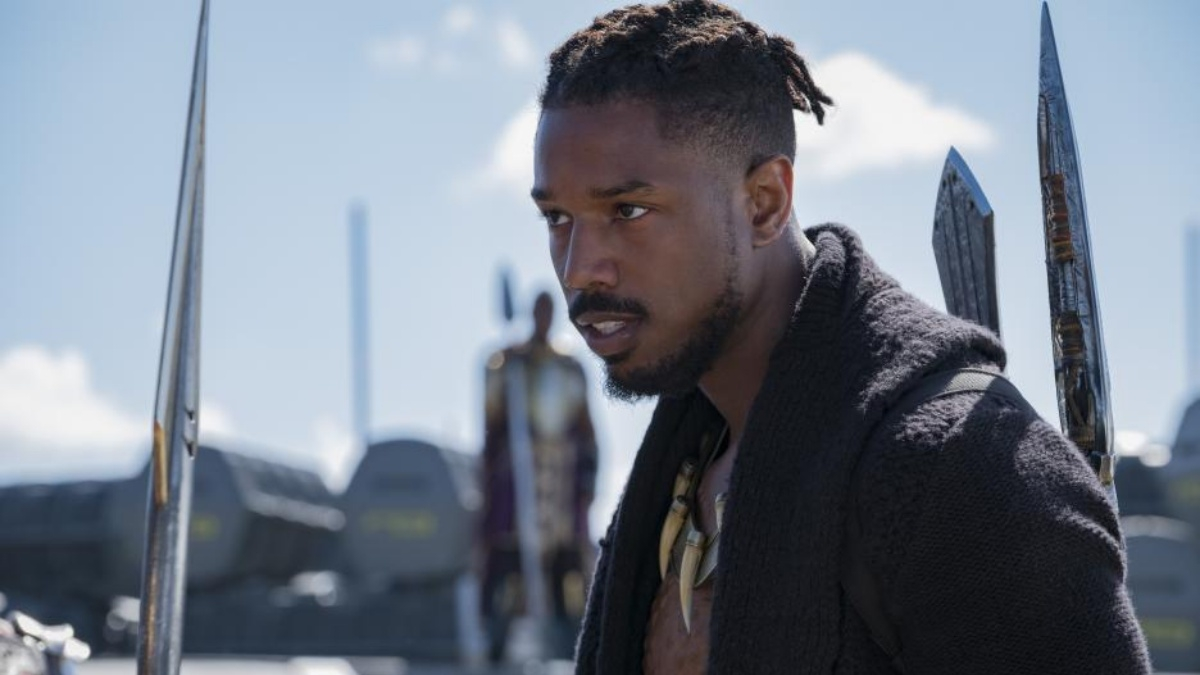Michael B. Jordan as Erik Killmonger in Black Panther