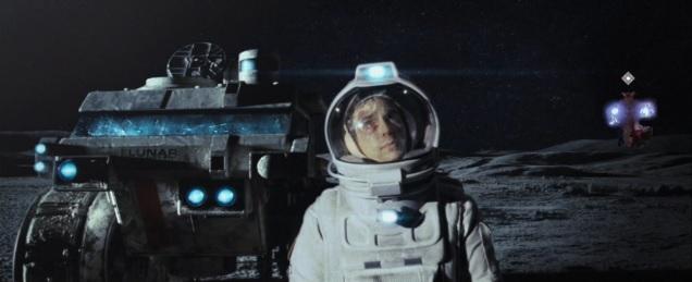 Sam Rockwell as Sam Bell in Duncan Jones' debut Moon.