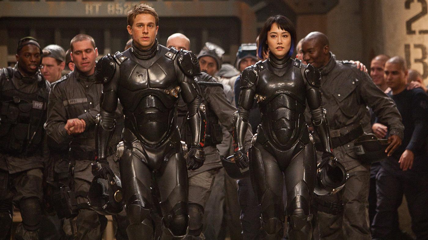 Charlie Hunnam and Rinko Kikuchi in Guillermo del Toro's Pacific Rim