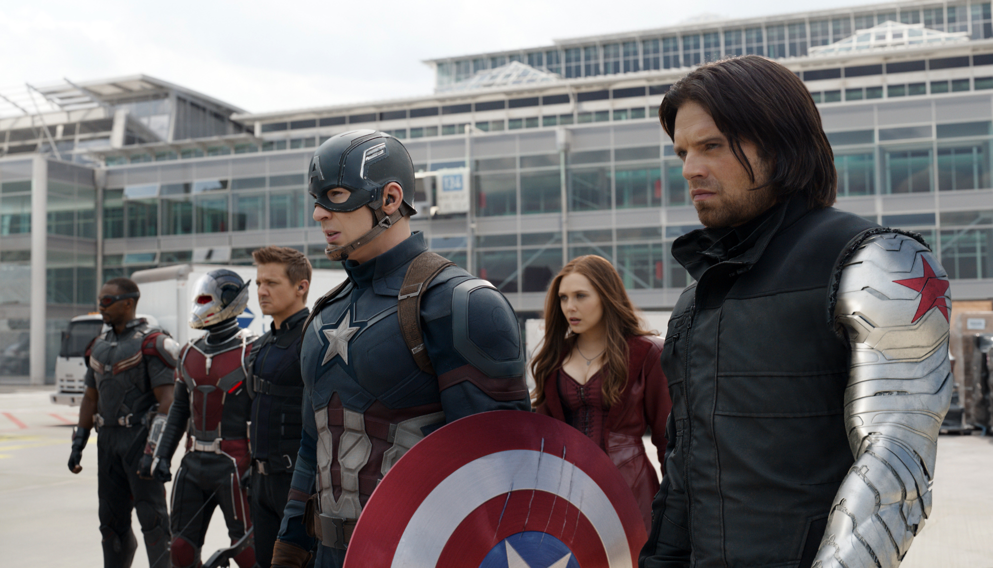 captain america civil war on screen projection