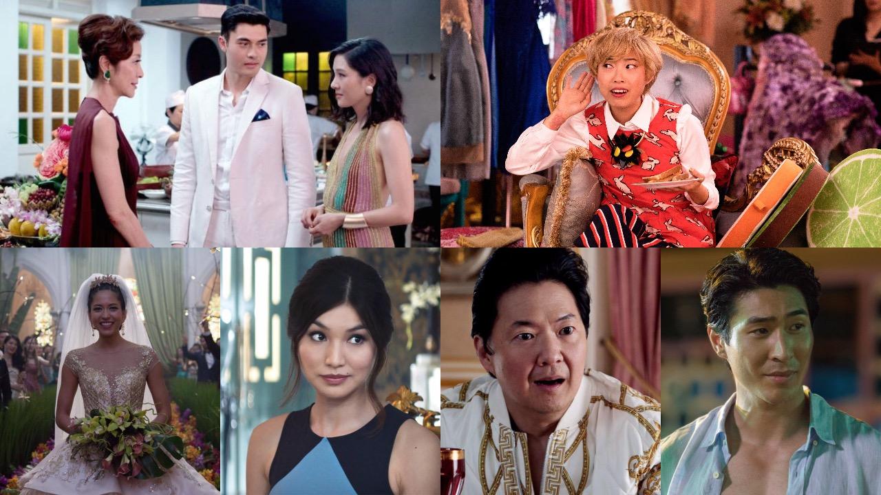 Henry Golding, Constance Wu, Michelle Yeoh, Gemma Chan, Lisa Lu, Chris Pang, Sonoya Mizuno, Nick Santos, Ken Jeong, Awkwafina,