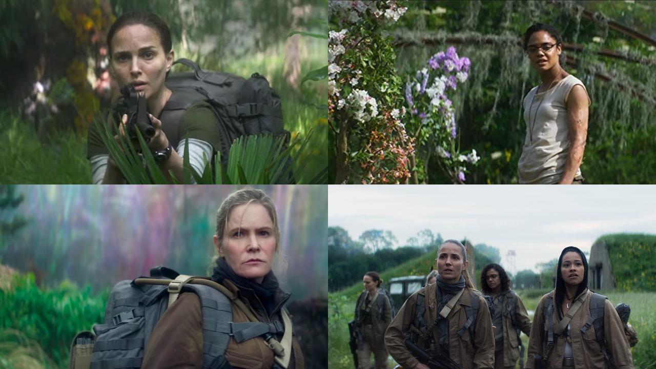Natalie Portman, Tessa Thompson, Jennifer Jason Leigh, Gina Rodriguez, Tuva Nuvotny, Oscar Isaac, Annihilation,